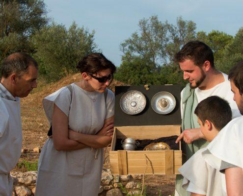 Activitat escola - Tivissa - jaciment Iberic